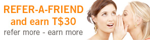 Refer a friend and earn T$10
